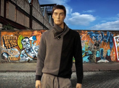 sweatshirt-blackgrey-shawl collar