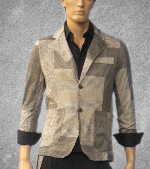 men's jacket, square shades' of gray #1255